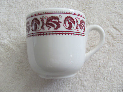 Syracuse China - Restaurant Ware- Red Leaf Design -Demitasse Cup(s)-6 Avail