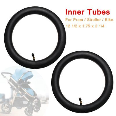 2x Inner Tube Bent Valve For Hota Pram Stroller Kid Cycle Bike 12 1/2x1.75x2 1/4
