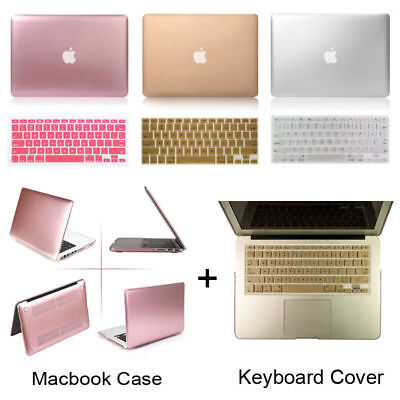 "Metallic Hard Case Shell For Macbook Air Pro Retina 11 12 13 15"" Keyboard Cover"