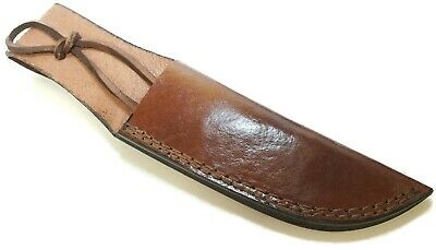 """Top Grain Leather Belt Sheath with Lace Up to 6"""" Blade"""