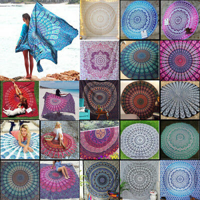 Indian Tapestry Large Wall Hanging Mandala Hippie Bedspread Throw Beach Towel