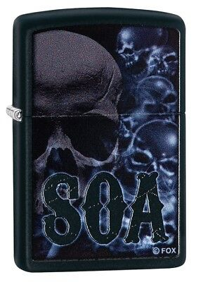 "ZIPPO ""SOA MULTI SKULL"" BLACK COLOR LIGHTER ** NEW in BOX **"
