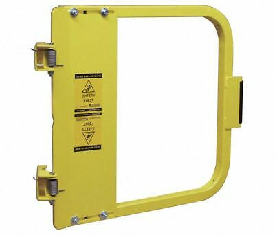 """PS DOORS Carbon Steel Safety Gate,16-3/4 to 20-1/2"""", Steel, LSG-18-PCY, Yellow"""