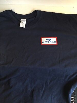 AMTRAK Navy Blue tee shirt 2XL- new