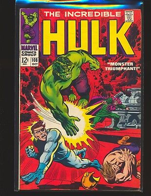 Incredible Hulk # 108 VG/Fine Cond.