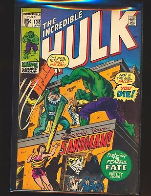 Incredible Hulk # 138 VG/Fine Cond.