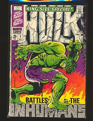 "Incredible Hulk Special # 1 - Steranko cover G/VG Cond. 1"" spine split"
