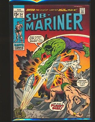 Sub-Mariner # 34 - Prelude to 1st Defenders VG/Fine Cond.