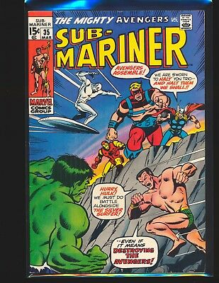Sub-Mariner # 35 - Prelude to 1st Defenders Fine Cond.