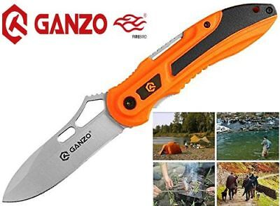 GANZO Ergonomic Handle Folding Tactical Survival Knife Camping Hunting Fishing