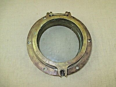 Vintage Solid Brass Ship Window Portal US Navy