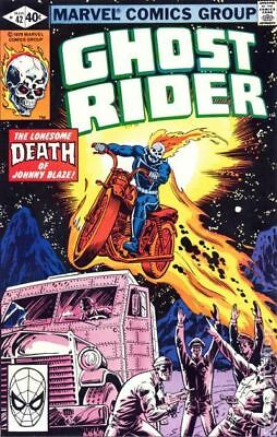 Ghost Rider (1st Series) #42 1980 VG Stock Image Low Grade