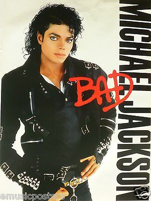 MICHAEL JACKSON BAD ORIGINAL CANADA PROMO ALBUM POSTER FROM 1987