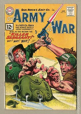 Our Army at War #114 1962 GD+ 2.5