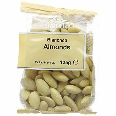 Suma Blanched Almonds 125 g (Pack of 6)