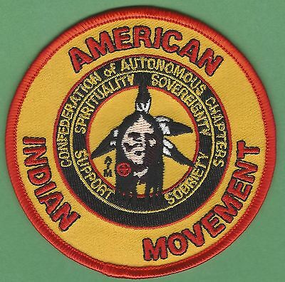 Aim American Indian Movement Confederation Of Autonomous Tribes Patch