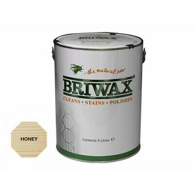 Briwax Original Wax Polish Honey 5 Litre The Natural Wax, Cleans and Polishes