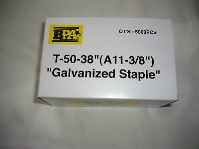 """Bulk 10,000 Bpa T-50- A11 - 3/8"""" Staples 2 Boxes By Building Products Of America"""