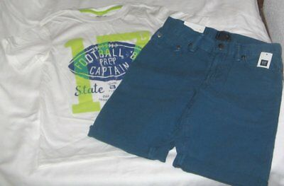 NWT Boys 8 GAP 2 Pc Outfit Shorts and Short Sleeve Top NEW