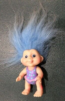 Collectable Applause Troll doll toy figurine figure Blue hair Baby Vintage 1990s