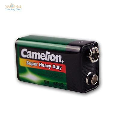 9V-Block battery Camelion Zinc / Coal 9,0 Volt Block Battery 9 V Block Battery