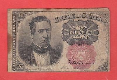 1874-76 10¢ Red Seal William Meredith Fractional Currency