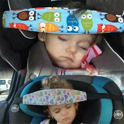 Child Baby Car Seat Headrest Kids pillow Support Sleeping Travel Pad Strap Belt