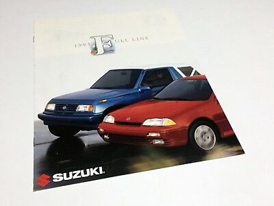 1993 Suzuki Sidekick Swift Full Line Brochure