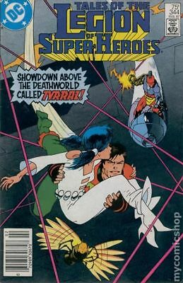 Legion of Super-Heroes (2nd Series) #344 1987 VF Stock Image