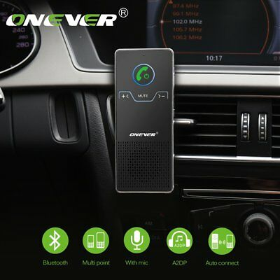ONEVER Wireless Bluetooth Hands Free In Car Auto Kit Speaker Phone Air Vent Clip