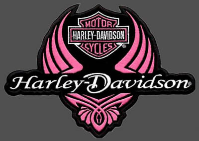 Harley Davidson Diva Wing 4 Inch Patch - Discontinued Patch