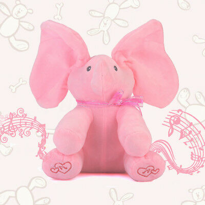 Peek a Music Animated Talking & Singing Plush Elephant Stuffed Doll Toy For Baby
