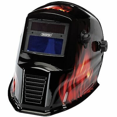 Draper Solar Powered Auto-Varioshade Welding And Grinding Helmet - Flame - 38392