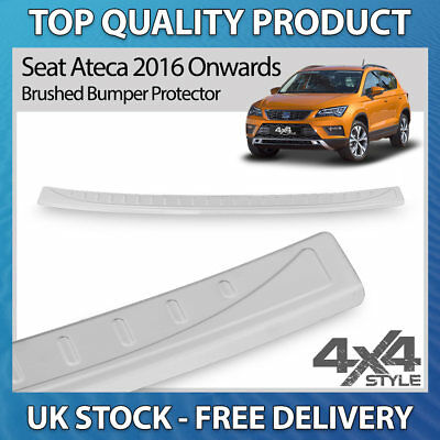 Rear bumper protector for Seat Ateca Crossover 5 doors 2016-2018 Stainless Steel