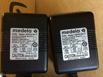 Lot of 2 MEDELA  PUMP IN STYLE ADVANCED  AC  ADAPTER TRANSFORMER 9 VDC # 9207010
