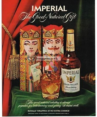 1972 Hiram Walker Imperial Whiskey Christmas  Vtg. Print Ad