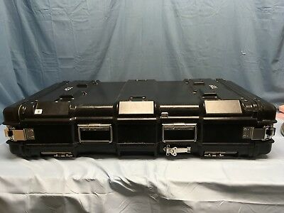 "NEW General Dynamics Black Rack Mount Case Outer Dimensions 41""x21""x9"""