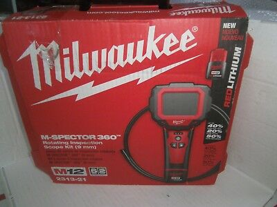 Milwaukee M12 M-Spector 360 Rotating Inspection Scope Kit-2313-21