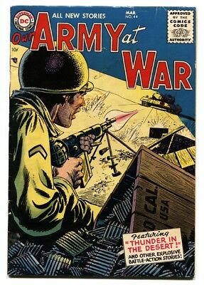 OUR ARMY AT WAR #44-DC-1956-German Tank cover-VG-WWII VG