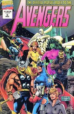 Official Marvel Index to the Avengers #6 1995 FN Stock Image