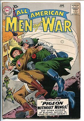 ALL-AMERICAN MEN OF WAR #70-1959-WWII-DC-SILVER AGE-PARATROOPER-vf minus