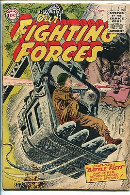 OUR FIGHTING FORCES #7-1955-DC-SILVER AGE-CONSTRUCTION COVER-vg