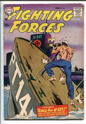 OUR FIGHTING FORCES #34-1958-DC-SILVER AGE-WWII-PT BOAT-U-BOAT-fn