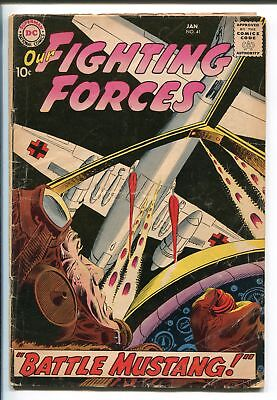 OUR FIGHTING FORCES #41-1958-DC-SILVER AGE-RUSS HEATH-P-51 MUSTANG-good/vg