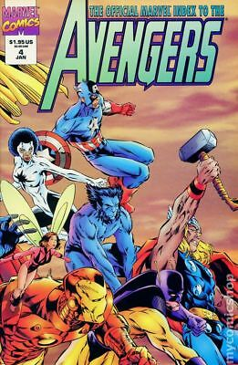 Official Marvel Index to the Avengers #4 1995 FN Stock Image