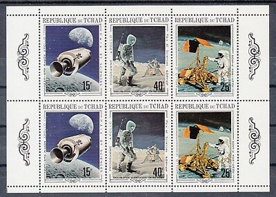 Chad: 1970-Space: Apollo programs Miniature sheet.MUH/MNH. Going Cheap