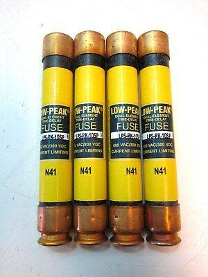 Lot Of 4 Cooper Bussmann LPS-RK-10SP RK1 Low Voltage Fuses 600VAC/300VDC 10A NEW