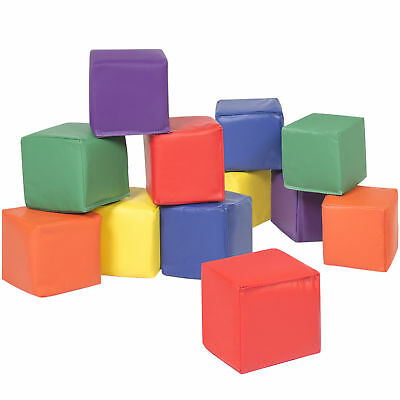 12pc Soft Big Foam Blocks Play Set Sensory Gross Motor Developmental Skills