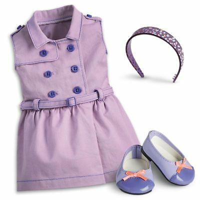 "* AMERICAN GIRL 18"" OUTFIT Travel in Style Dress Shoes Headband for Doll NEW NIB"