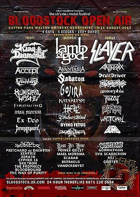 BLOODSTOCK OPEN AIR 2013 CONCERT U.K. POSTER - King Diamond,Lamb Of God, Slayer